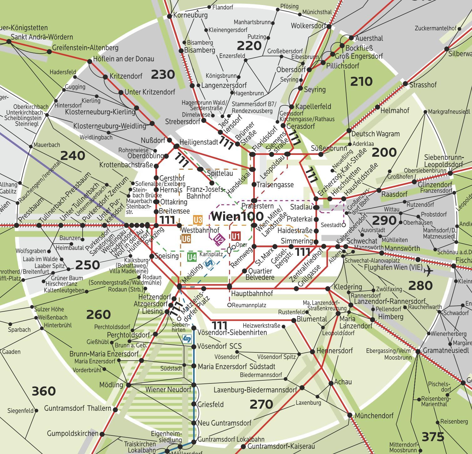 Vienna Zone 100 Map Wien Zone 100 Map Austria