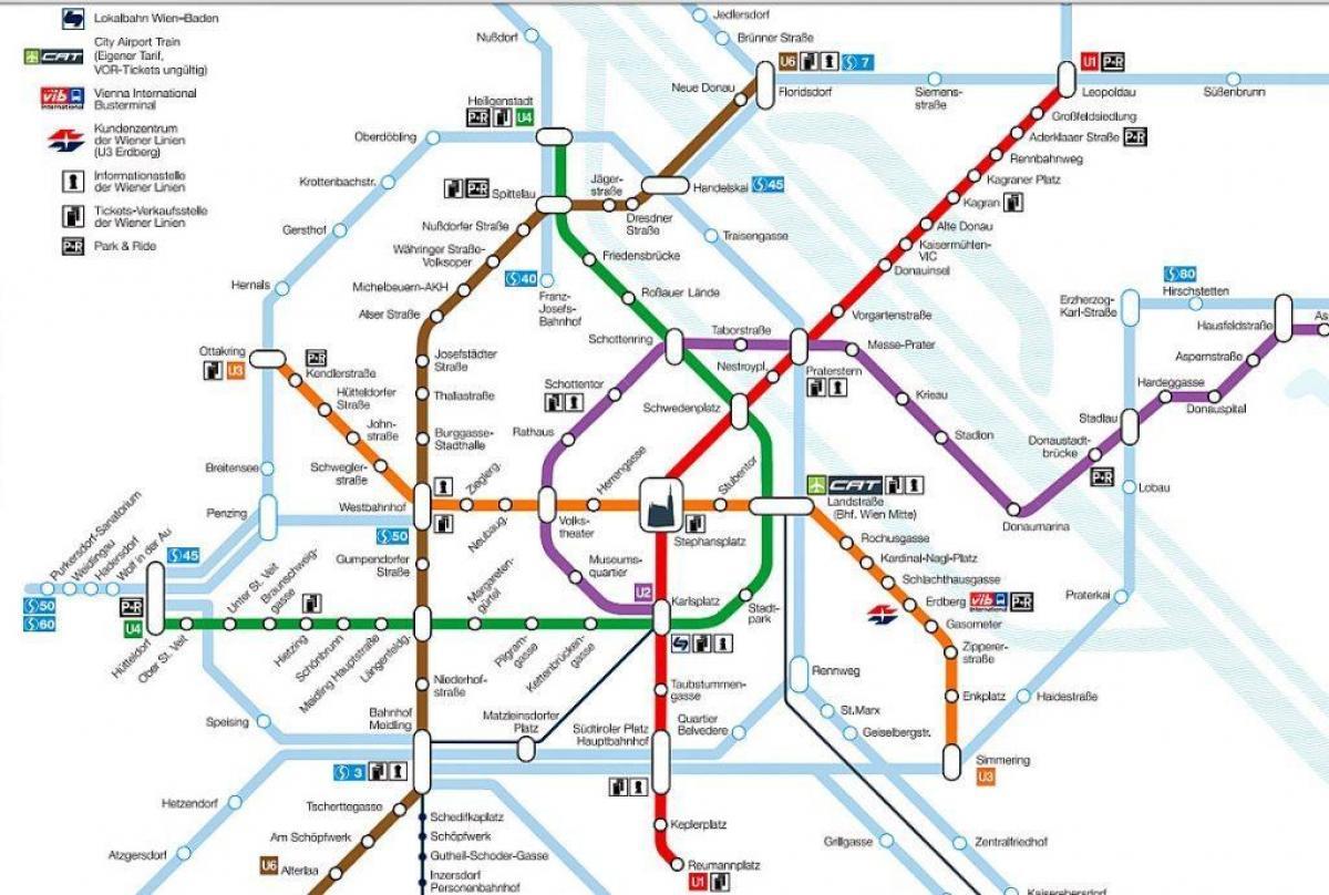 Wien Subway Map.Wien Metro Map Wien Subway Map Austria