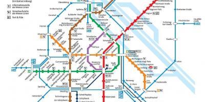 Vienna map maps vienna austria vienna austria metro map gumiabroncs Choice Image