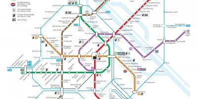 Vienna Subway Map.Vienna Map Maps Vienna Austria